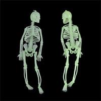 Party Saciosts Хэллоуин страшный мини NoctiLucent человеческий скелет пластиковый 20см маленькая модель скелетов дома украшения кулон висит украшения 1 9qk h1