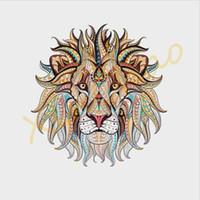 Trendy 3D Lion King Patches de Roupas Adesivos para Tops Iron-on Animal Parches