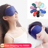 تغطية العين الحرير النوم العين قناع النوم الظل مبطن تصحيح Eyemask الغمائم النساء الرجال السفر الاسترخاء الراحة