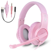 Gaming Headset Bass Stereo Cuffie da gioco over-ear con microfono e controllo del volume Compatib 3.5mm Bass Stereo DHL libero