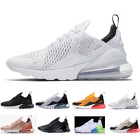 Designer shoes men women Nike 270 AIR MAX Parra Hot Punch Foto Azul Hombres Mujeres Zapatos Corrientes Triple Blanco Universitario Rojo Oliva Volt Habanero Flair Sneakers 36-45