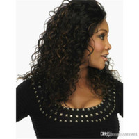 Europe and America ladies long curly hair corn hot wig beaut...