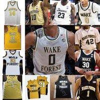 Personnalisé Wake Forest Demon Deacons Basketball Jersey NCAA John Collins Chris Paul Jeff Teague Ish Smith Josh Howard Muggsy Bogues