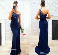 2019 neue königliche blaue abendkleid sexy eine schulter spitze formale urlaub tragen prom partykleid maßgeschneiderte plus größe