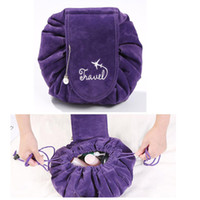 Newest Corduroy Lazy Drawstring Cosmetic Bag Large Capacity ...