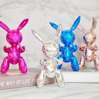 25 centimetri Balloon coniglio figurine di arte del mestiere lucida Balloon Dog Statua della decorazione della casa Accessori regalo di natale Mestieri della resina