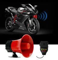 30W Auto Sirene Motorrad Alarm Verstärker Lautsprecher Horn Hochtöner mit Mikrofon (Sirene + Feuer + Alarm + Aufnahme + Spielfunktion)