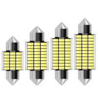 100PCS Festone 31 millimetri 36 millimetri 39 millimetri 41 millimetri C5W 18 27 30 33 SMD 3014 LED di lettura in auto per luce cupola interna della lampadina della targa