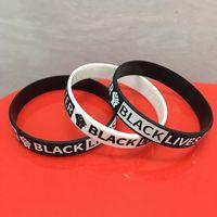 Vit noire Matière silicone Wristband pour les hommes femmes Band Bracelets Je ne peux pas respirer adultes Poignet américain HHA1384