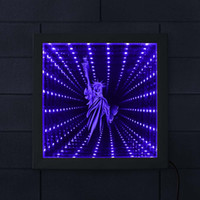 Statue of Liberty Minimalist LED Lighted Infinity Mirror Mes...