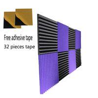 8 PCS Sound Proof Foam 12 '' * 12 '' * 1 '' дюймов Клин Акустическая пена с клейкой лентой