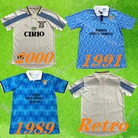 1989 1991 1999 2000 2001 الرجعية Lazio Soccer Jersey Nedved Nesta Mancini Gascoigne Salas خمر كرة القدم قميص S-2XL