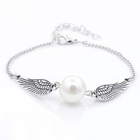 Pop Vintage Angel Wings perle d'imitazione del braccialetto del braccialetto designer di gioielli di lusso Bracciali regali delle donne 7 colori