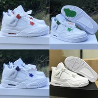 Cheaps 4 4s scarpe da basket Bred Black Cat Mens Women White Cement Encore Ali Fire Red Singles Designer Sneakers IV Formatori denaro Pure