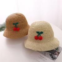 2020 Dantel Hasır Şapka Çocuklar Yaz Şapka Kız Bebek Boy Güneşlik Şapka Çocuk Plaj Panama Cap gorros için