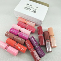 Rossetto opaco 24 Ore Long Lasting Stick Lip marca 12 colori trucco Branded Pucker Up Per la crema per le vacanze