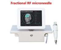 تصميم مقبض مع 4 نصائح كسور rf آلة microneedle العناية بالوجه الجسم التخسيس تمتد العلامات إزالة DHL