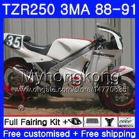 Kit per YAMAHA TZR250RR TZR-250 TZR 250 88 89 90 91 Corpo 244HM.50 TZR250 RS RR YPVS 3MA TZR250 1988 1989 1990 1991 bianco lucido caldo Carena