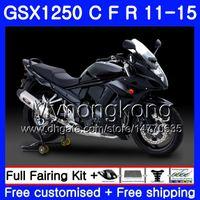 Kropp för Suzuki Bandit Matte Black GSX1250F GSX1250FA GSX1250 C 11 12 13 14 15 310HM.28 GSXF1250 GSX1250C 2011 2012 2013 2014 2015 Fairing