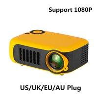 A2000 핫 미니 휴대용 프로젝터 1000 루멘 지원 1080P SD 카드 USB LCD 50000 시간 램프 수명 홈 시어터 비디오 디지털 프로젝터