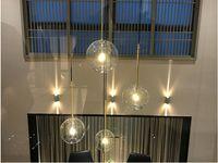 침실 식당 주방 가게 8 스타일로 유럽 매달려 램프 데코 2020 현대 유리 볼 펜던트 조명 LED E27 아트