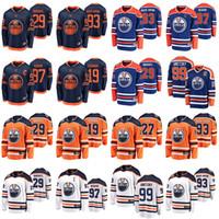 Edmonton Oliers Jerseys Youth 97 Connor McDavid Jersey 29 Leon Draiseaitl 19 Mikko Koskinen Hockey Jerseys إمرأة مخيط رجالي
