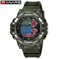 PANARS Nouvelle arrivée Montre Homme imperméable de luxe extérieur G montres de sport Shock armée numérique LED poignet chronomètres pour hommes