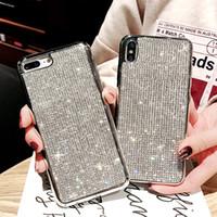 Lüks Bling Tam Elmas Kılıfları iphone 7 Için Artı 6 6 S 8 X Moda Rhinestone Glitter Yumuşak Arka Kapak Için iphone XR XS Max