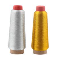 Пряжа золотая серебряная компьютерная вышивка вышивка нити 3000m шить нить текстиль металлик тканые машины шишки линии линии