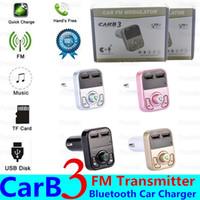 마이크 듀얼 USB 차량용 충전기 저렴한와 B3 FM 블루투스 핸즈프리 차량용 오디오 수신기 송신기 보조 변조기 차량용 키트 MP3 플레이어 무선