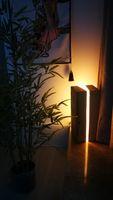 Çatlak ağacı güdük ahşap reçine bahçe ışık ağacı yuvarlak lamba bahçe dekor İç ligthing noel nordic oduncu mum resinart galeri