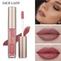 SACE LADY 23 Colori Rossetto Liquido Trucco Non Secco Matte Lip Stick Lunga Durata Nudo Lip Gloss Tint Naturale Marca Cosmetico