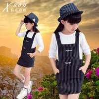 Fashion Autumn Baby Striped Girls Dresses Kids Clothes Party...