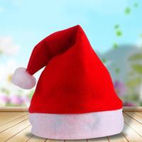 Cappello Nuovo Babbo Natale rosso ultra morbido peluche di Natale di Cosplay Cappelli Decorazione natalizia adulti Christmas Party Hats