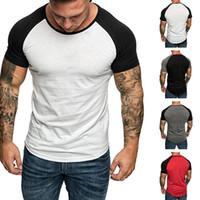 العلامة التجارية ملابس رجالية 'S قصيرة جولة كم عنق الربط T -قمصان عارضة البيسبول التي شيرت الرجال سليم المحملة القمم الشارع الشهير زائد الحجم M-3XL