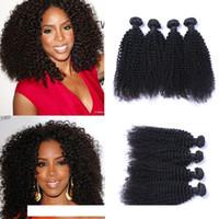 Brésilien remy Vierge cheveux crépus cheveux bouclés Tissages Couleur naturelle 100g double faisceau Trames 4Bundles beaucoup Extensions cheveux