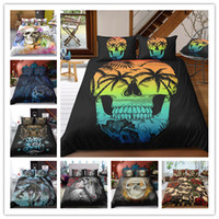 3D Print Sugar skull Bedding Sets Duvet Cover Bed Set Bohemi...
