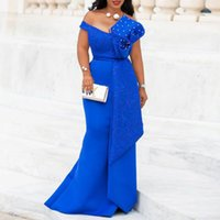 Christmas Dresses for Women Plus Size Blue Sexy Evening Floo...