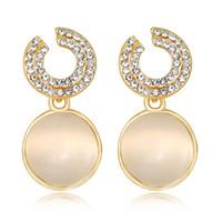 La versione coreana dei migliori orecchini nuovi di vendita degli orecchini della lega di opale del diamante ha incrinato gli orecchini all'ingrosso diretti della fabbrica degli orecchini delle signore