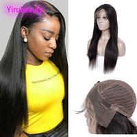 Malaysian Human Hair Straight 13X4 Lace Front Wig Natural Co...