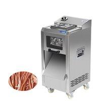 BEIJAMEI 2200W elektrische Fleischschneidemaschine kommerzielle Drahtschneider Schleifmaschine Fleisch Vollautomatische Geschnittenes Fleisch-Schneidemaschine