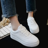 Winter 2019 New Baitao Plus Suede Small White Shoes Women&#0...