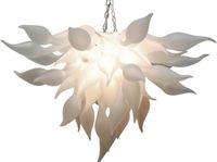 현대 화이트 램프 무라노 샹들리에드 빛 중국 공급 업체 손을 날 려 유리 샹들리에 예술 장식 Led 전구