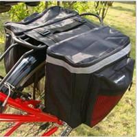 Sacoche de selle Sacs de sac à dos arrière Articles d'équitation Deux pièces Support arrière Équipement de montagne en plein air, grande capacité 1kg 11 5yjf1