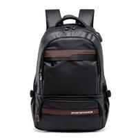 Multifuncional laptop mochila manga caso saco à prova d 'água USB carga porta schoolbag caminhadas saco de viagem estilo preppy schoolbag