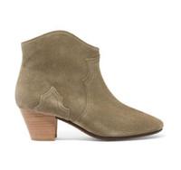 Yeni Isabel Dicker Süet Bilek Boots Gerçek Deri Moda Yeni Pop Marant Paris Pistler Dicker Patik Ayakkabı Batı esinli