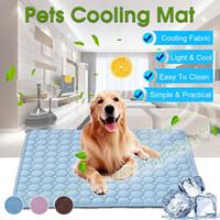تبريد الصيف بساط الوسادة للكلاب القط غطاء صوفا الكلب MatBreathable كلب سرير قابل للغسل الصيف للصغير متوسط كبير الكلاب السيارات