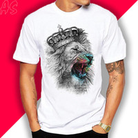 T- shirt Lion King Crown Graphic short sleeve print casual Un...