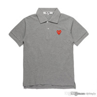 2018 COM all'ingrosso Nuovo Best Quality Grigio cuore rosso Nuovo 1 PLAY Nero Polo T-Shirt Taglia M Made In Japan Junya Homme Plus