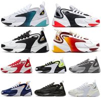 nike air zoom 2k fly off white asics gel New Fashion M2k Tekno Zoom 2K Scarpe 2000 Nero Sail White Orange Navy TOP Womens Designer Scarpe sportive Uomo Trainer NIK 7-12